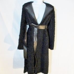 NWT CELINE LAMBSKIN SHEARLING FUR LEATHER coat